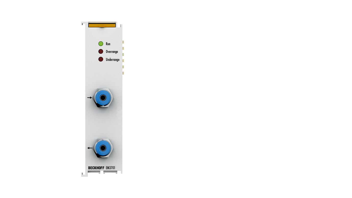 EM3701 | EtherCAT Terminal, 1-channel analog input, differential pressure, ±100hPa (±100mbar)