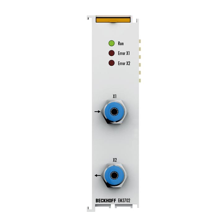 EM3702   EtherCAT Terminal, 2-channel analog input, relative pressure, 0...7500hPa (0…+7.5bar)