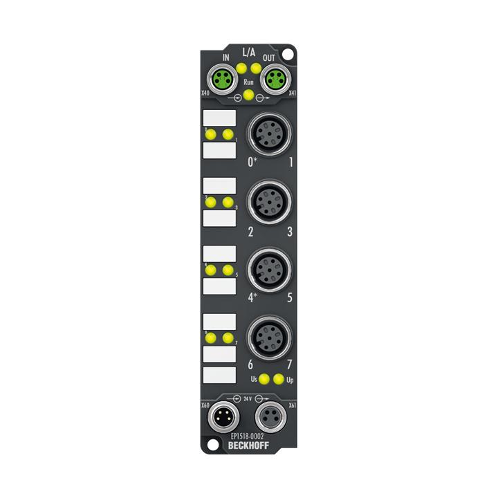 EP1518-0002   2-Kanal-Vor-/-Rückwärtszähler 24V DC, 1kHz, 32Bit, einstellbare Eingangsfilter 0…100 ms