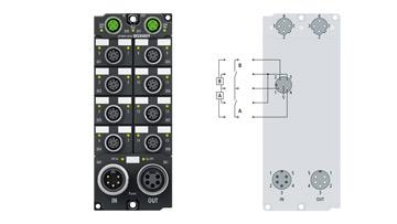 EP1809-0042 | EtherCAT Box, 16-channel digital input, 24VDC, 3ms, M12