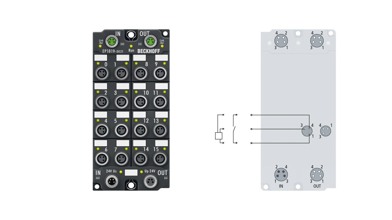 EP1819-0021 | 16-channel digital input 24 V DC, 10 µs