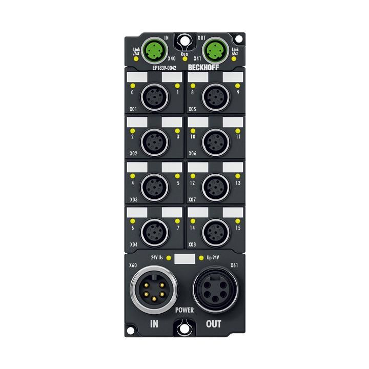 EP1839-0042 | EtherCAT Box, 16-channel digital input, 24VDC, M12, with diagnostics