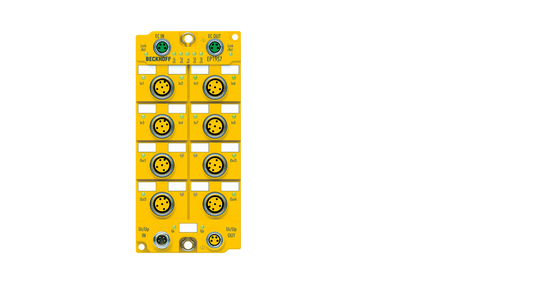 EP1957-0022 | Digital combi module, TwinSAFE Logic, 24VDC, 8safe inputs, 4safe outputs