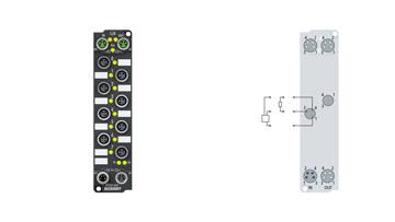 EP2038-0001 | 8-channel digital output 24 V DC, Imax = 2 A (∑ 4 A), with diagnostics