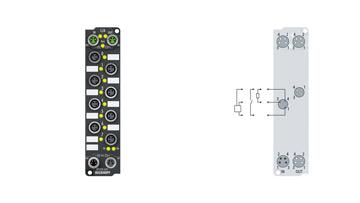 EP2338-1001 | 8-channel digital input or output 24 V DC, 3.0ms