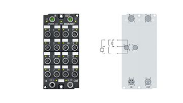 EP2349-0021 | 16-Kanal-Digital-Ein- oder -Ausgang 24VDC, 10 µs Filter