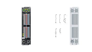 EP2816-0003   16-Kanal-Digital-Ausgang 24 V DC, Imax = 0,5 A (∑ 4 A)