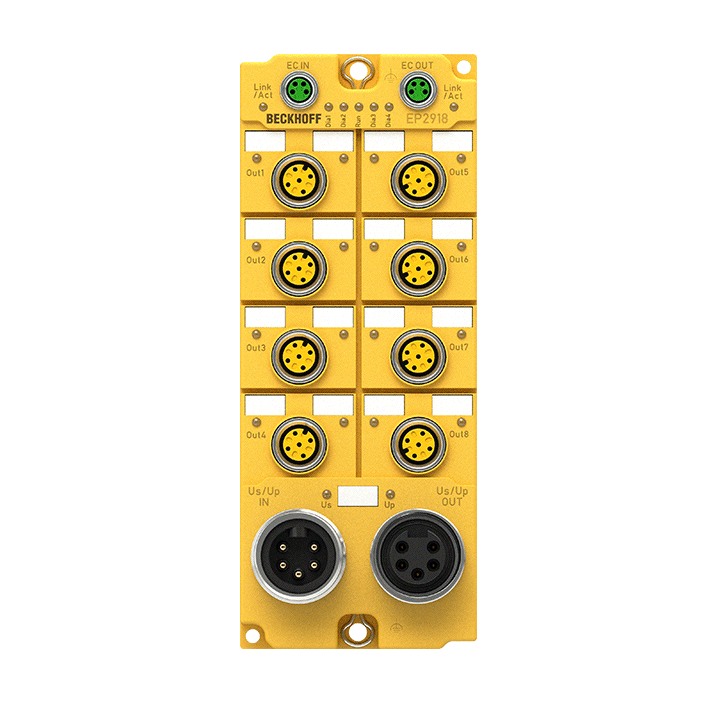 EP2918-0032 | 8-channel digital output, TwinSAFE Logic, 24VDC