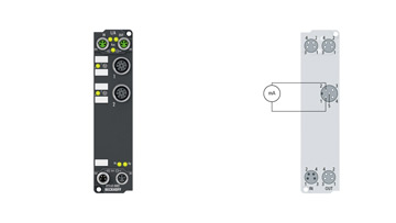 EP3162-0002 | EtherCAT Box, 2-channel analog input, multi-function, ±10V, ±20mA, 16bit, single-ended, electrically isolated, M12