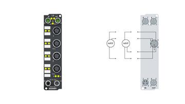 EP3184-1002 | 4-Kanal-Analog-Eingang ±10V oder 0/4…20mA, parametrierbar, single-ended, 16Bit