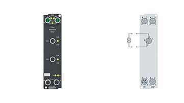 EP3632-0001 | EtherCAT Box, 2-channel analog input, IEPE/accelerometer, 16bit, 50ksps, M8