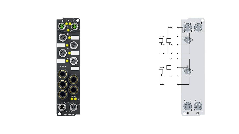 EP3744-0041 | Differenzdruckmessbox, 6 digitale Eingänge 24VDC, 2digitale Ausgänge 24VDC, 0,5A, 4Druckeingänge -1…1bar