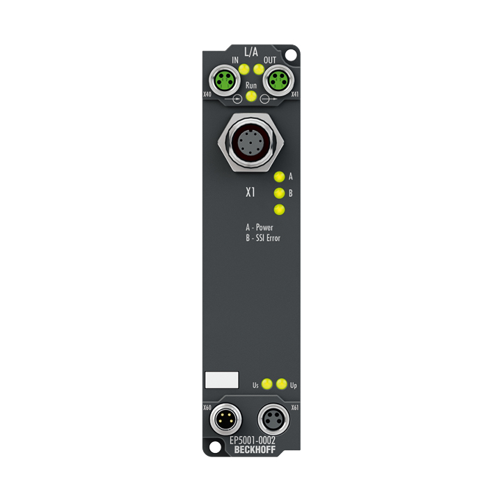 EP5001-0002 | EtherCAT Box, 1-channel encoder interface, SSI, M12