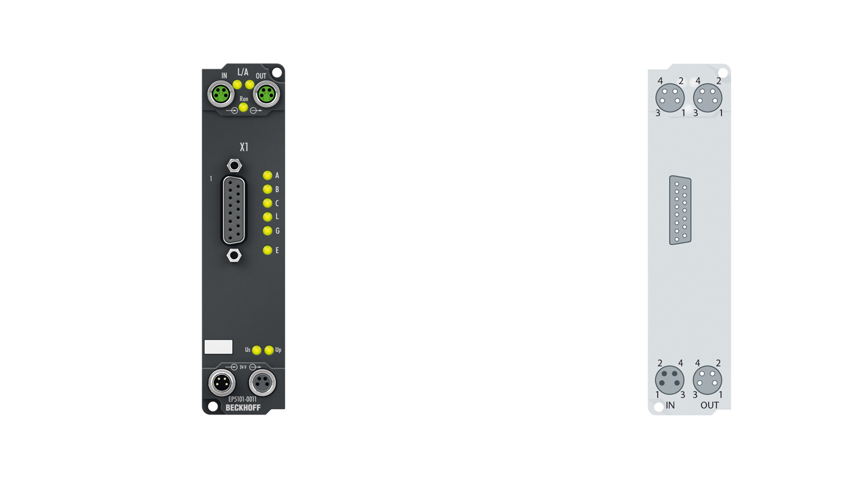 EP5101-0011 | EtherCAT Box, 1-channel encoder interface, incremental, 5VDC (DIFFRS422,TTL), 1MHz, D-sub
