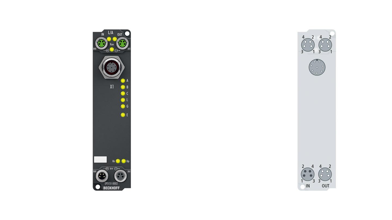 EP5151-0002 | EtherCAT Box, 1-channel encoder interface, incremental, 24VDCHTL, 1MHz, M12