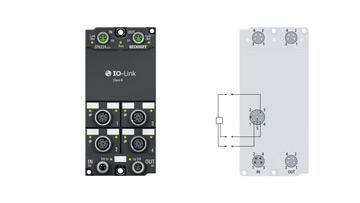 EP6224-3022   EtherCAT Box, 4-channel communication interface, IO-Link, master, ClassB, M12