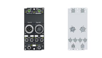 EP9214-0023 | 4/4-Kanal-Powerverteilung für EtherCAT-Box-Module