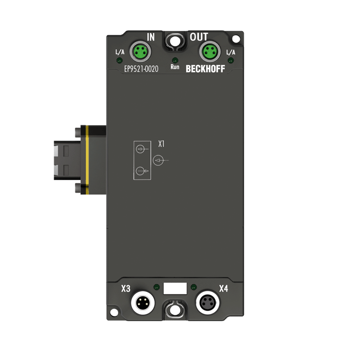 EP9521-0020 | EtherCAT media converter, optical fibre/copper (multimode), IP67