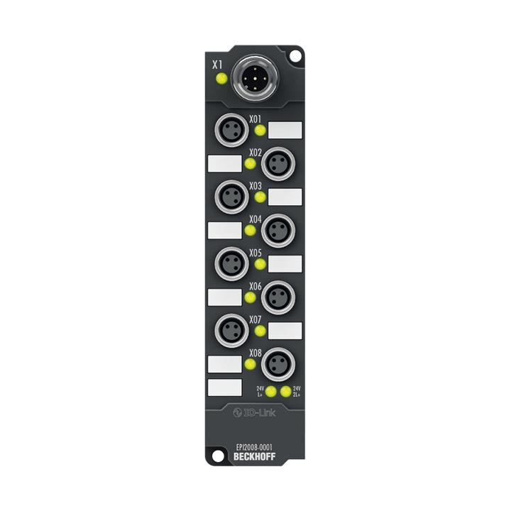 EPI2008-0001 | 8-channel digital output 24 V DC, Imax = 0.5 A (∑ 4 A)
