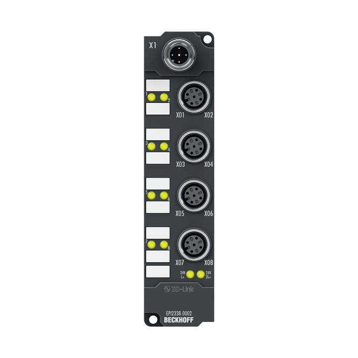 EPI2338-0002 | IO-Link box, 8-channel digital combi, 24VDC, 3ms, 0.5A, M12