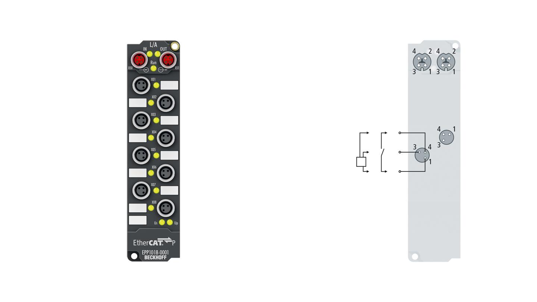 EPP1018-0001 | EtherCAT P Box, 8-channel digital input, 24VDC, 10µs, M8