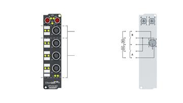 EPP1258-0002 | 8-Kanal-Digital-Eingang mit 2-Kanal-Timestamp