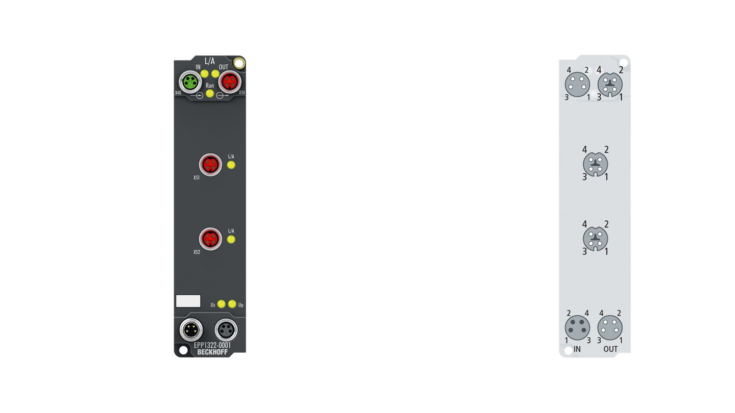 EPP1322-0001   EtherCAT P junction with feed-in