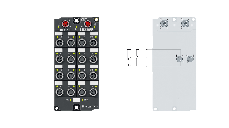 EPP1809-0021 | 16-channel digital input 24VDC, 3.0ms