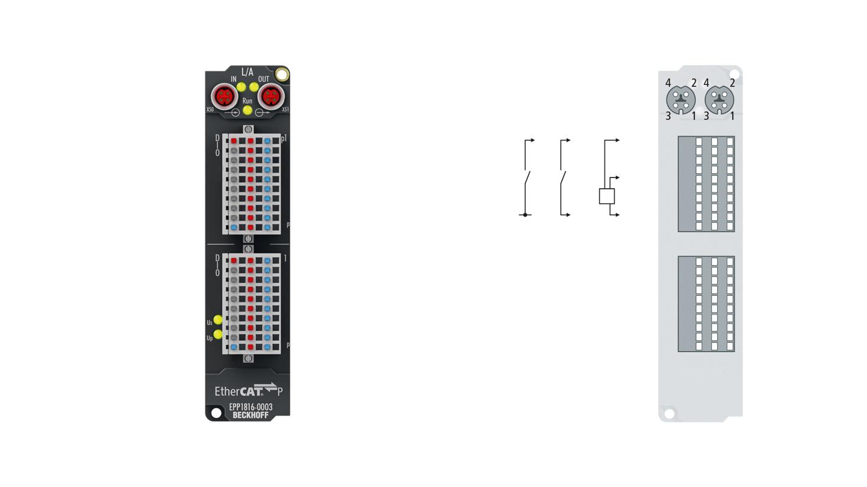 EPP1816-0003 | 16-Kanal-Digital-Eingang 24 V DC