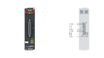 EPP2316-0008 | EtherCAT P Box, 8-channel digital input + 8-channel digital output, 24VDC, 10µs, 0.5A, D-sub
