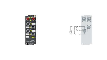 EPP2334-0061 | EtherCAT P Box, 4-channel digital combi, 24VDC, 10µs, 0.5A, M8