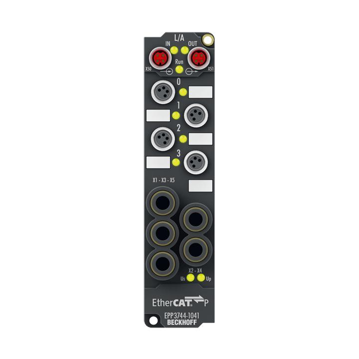 EPP3744-1041 | Pressure measuring box, 6 digital inputs 24VDC, 2digital outputs 24VDC, 0.5A, 4pressure inputs 0…7bar