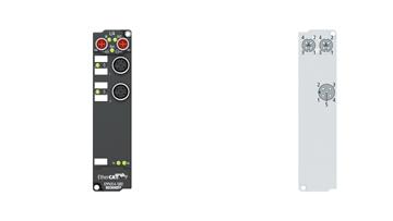 EPP4314-1002 | 2-channel analog input + 2-channel analog output ±10/±20mA, parameterizable, 16bit
