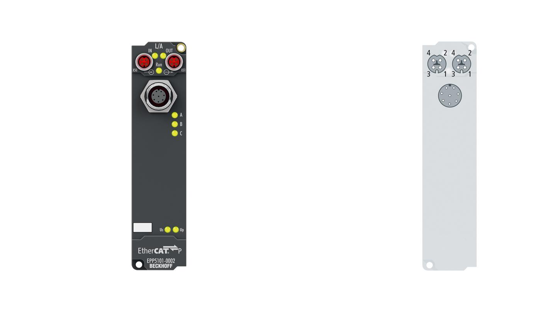 EPP5101-1002 | EtherCAT P Box, 1-channel encoder interface, incremental, 5VDC (DIFFRS422,TTL), 1MHz, M12, sensor supply 24VDC