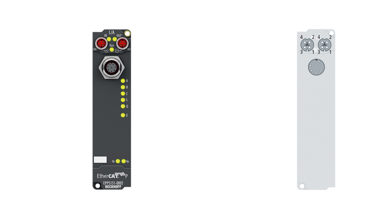 EPP5151-0002 | EtherCAT P Box, 1-channel encoder interface, incremental, 24VDCHTL, 1MHz, M12