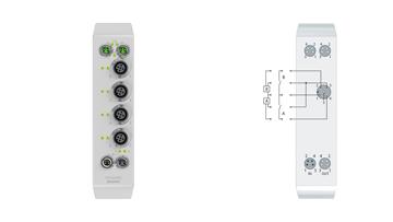 EQ1008-0002 | EtherCAT Box, 8-channel digital input, 24VDC, 3ms, M12, stainless steel