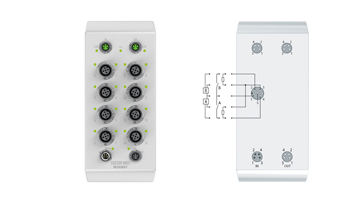 EQ2339-0022 | EtherCAT Box, 16-channel digital combi, 24VDC, 3ms, 0.5A, M12, stainless steel