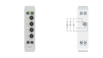 EQ3204-0002 | 4-Kanal-Analog-Eingang Pt100 (RTD)