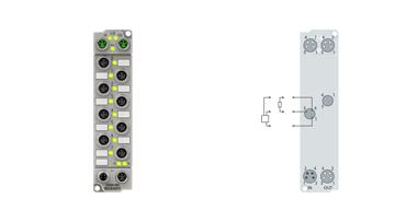 ER2008-0001 | EtherCAT Box, 8-channel digital output, 24VDC, 0.5A, M8, zinc die-cast