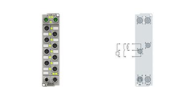 ER2328-0001 | 4 x Digital-Eingang + 4 x Digital-Ausgang 24VDC, Imax=2A (∑4A)