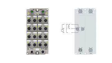 ER2349-0021 | EtherCAT Box, 16-channel digital combi, 24VDC, 10µs, 0.5A, M8, zinc die-cast