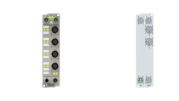 ER6002-0002   EtherCAT Box, 2-channel communication interface, serial, RS232/RS422/RS485, M12, zinc die-cast