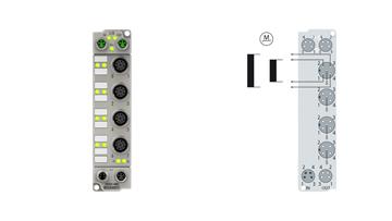 ER7041-0002 | Stepper motor module 48 V DC, 5 A, with incremental encoder, 2digital inputs, 1 digital output