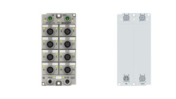 ER8309-1022 | EtherCAT Box, multi-functional box, digital, analog, PWM, current-controlled, M12, zinc die-cast