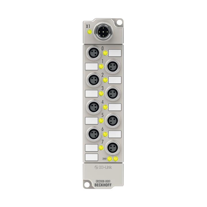 ERI2008-0001   IO-Link box, 8-channel digital output, 24VDC, 0.5A, M8, zinc die-cast