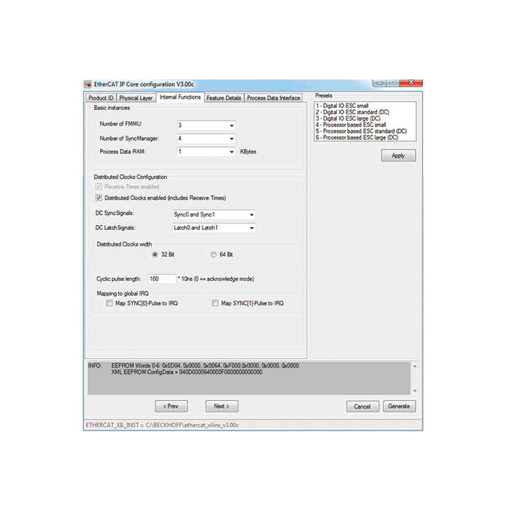 ET1815, ET1816 | EtherCAT IP core for Xilinx® FPGAs