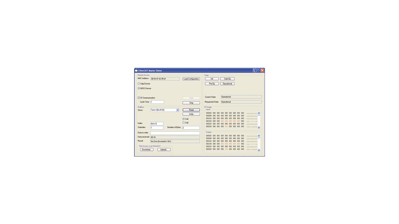 ET9200 | EtherCAT Master Sample Code