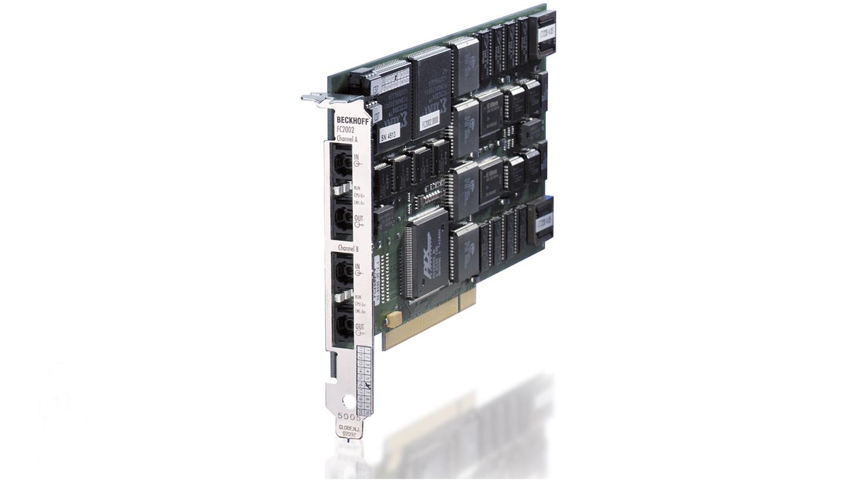 FC2002 | Infrastructure, 2-channel fieldbus card, Lightbus, master, PCI, LWL