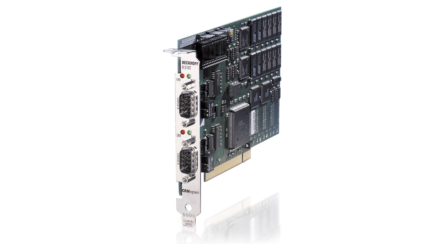 FC5102 | Infrastructure, 2-channel fieldbus card, CANopen, master/slave, PCI, D-sub