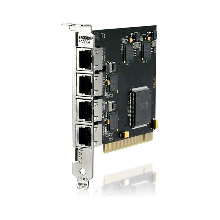 FC9004 | Infrastructure, 4-channel fieldbus card, Ethernet, 100Mbit/s, PCI, RJ45